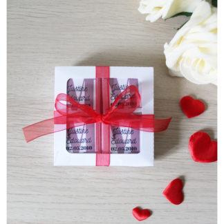 Boîte de 8 chocolats personnalisés Saint Valentin