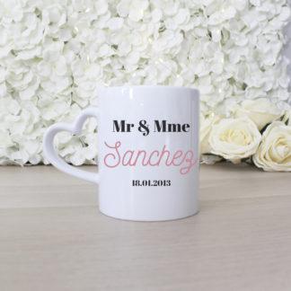 Mug couple mariage Saint Valentin personnalisé