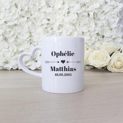 Mug personnalisé pour couple Saint Valentin