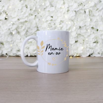 Mug personnalisé mamie en or