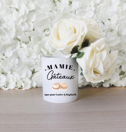 Pot fleurs personnalisé fete des grands meres