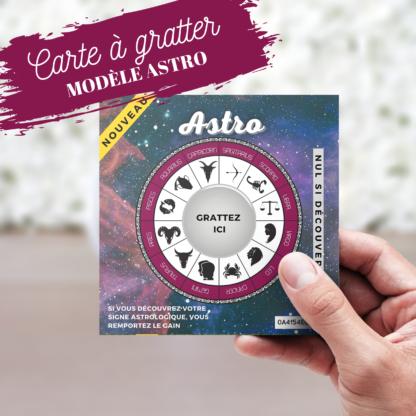 Carte à gratter annonce originale Astro