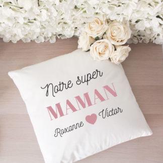 Coussin personnalisé notre super maman