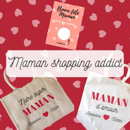 Box personnalisé maman shopping addict
