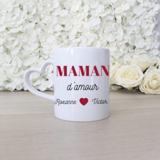 Mug personnalisé maman d'amour cadeau fete des mères