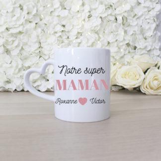 Mug personnalisé notre super maman fête des mères