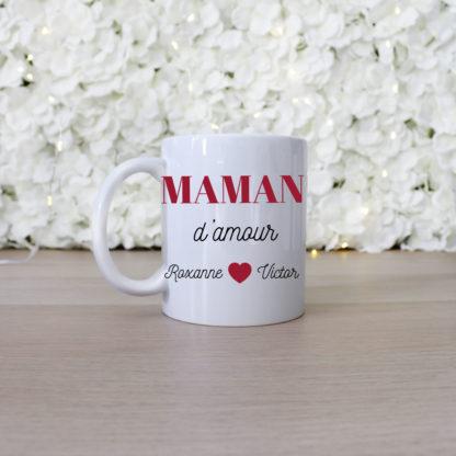 Mug personnalisé maman d'amour cadeau fête des mères