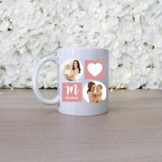 Mug personnalisé photos des enfants cadeau fête des mères