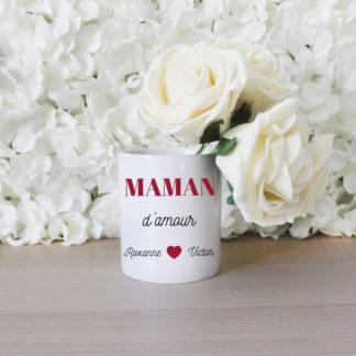 Pot à crayon personnalisé maman d'amour cadeau fête des mères