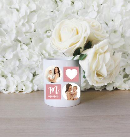 Pot à crayons personnalisé fête des mères avec photos