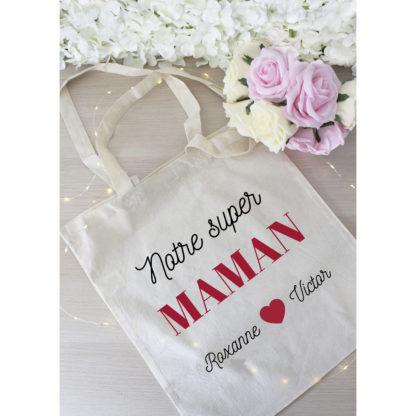 Tote bag personnalisé cadeau fête des mères