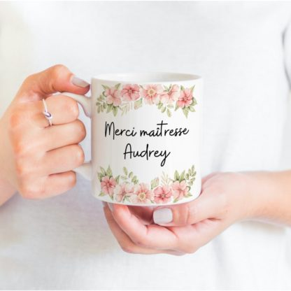 Cadeau fin d'année scolaire mug personnalisé maîtresse